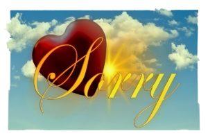 sorry, liefde, vergeving