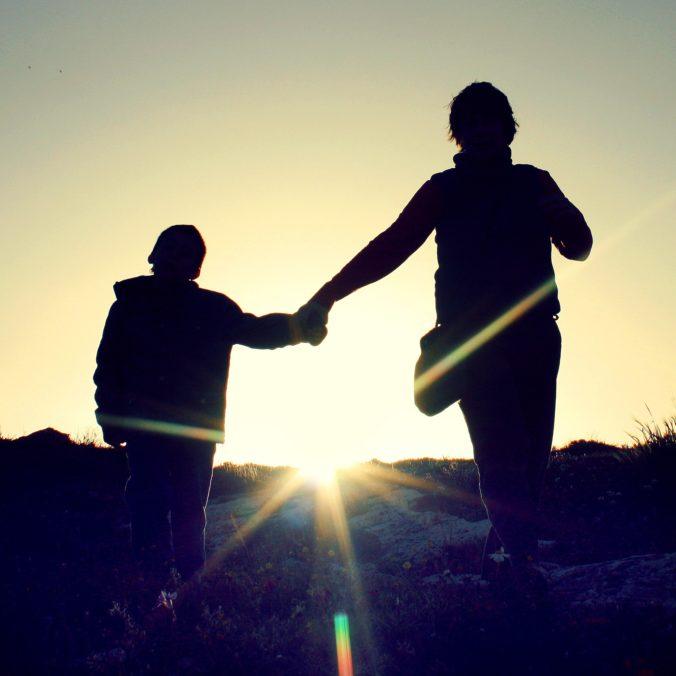 ouder en kind, vrede, relatie, goed, gelukkig